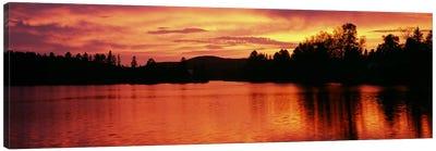 Lake at sunset, Vermont, USA Canvas Art Print