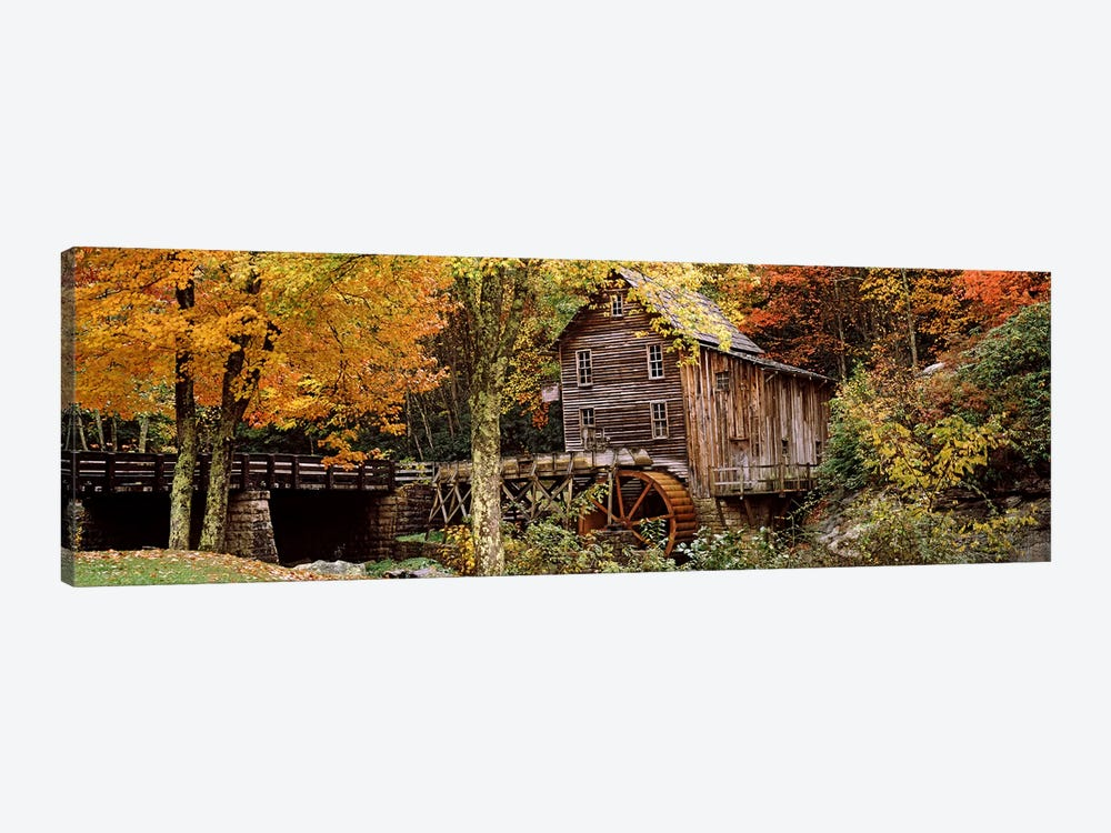 Glade Creek Grist Mill I, Babcock State Park, Fayette County, West Virginia, USA by Panoramic Images 1-piece Canvas Art