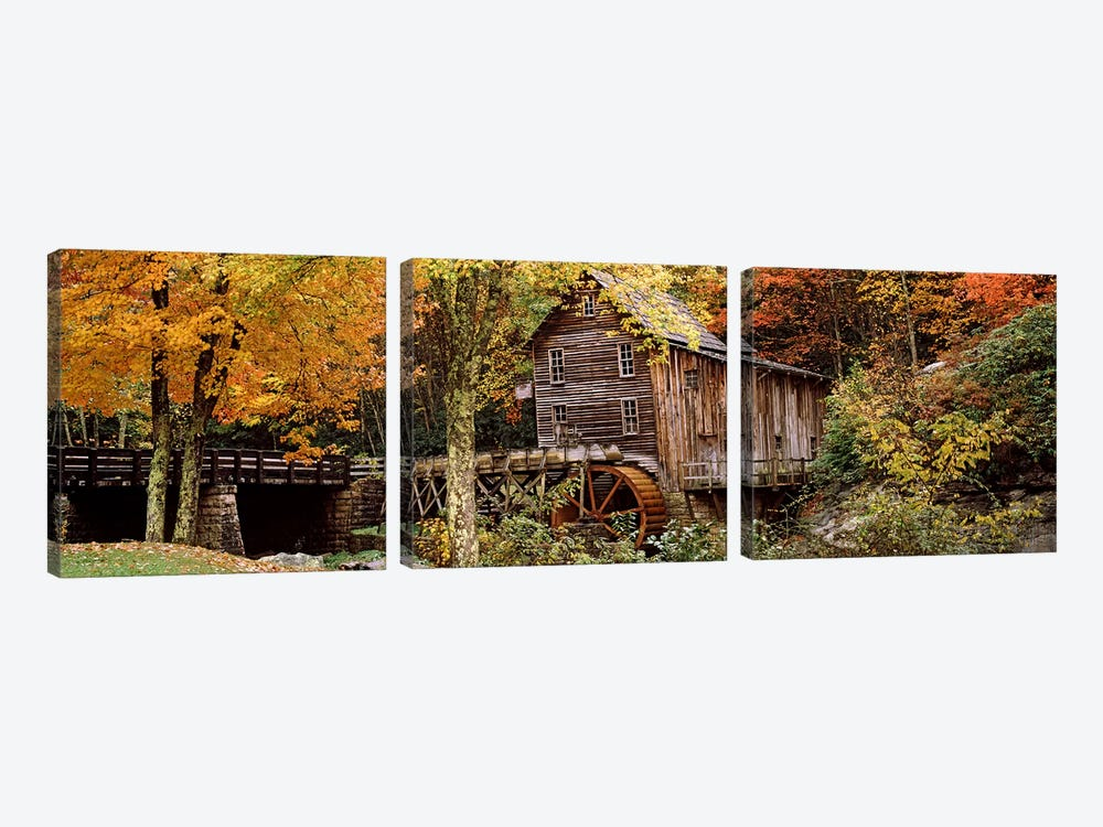 Glade Creek Grist Mill I, Babcock State Park, Fayette County, West Virginia, USA by Panoramic Images 3-piece Canvas Wall Art