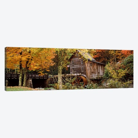 Glade Creek Grist Mill I, Babcock State Park, Fayette County, West Virginia, USA Canvas Print #PIM7447} by Panoramic Images Canvas Wall Art