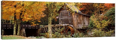 Glade Creek Grist Mill I, Babcock State Park, Fayette County, West Virginia, USA Canvas Art Print