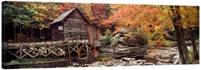 Glade Creek Grist Mill II, Babcock State Park, Fayette County, West Virginia, USA Canvas Art Print