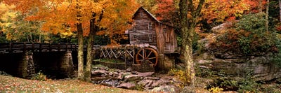Rural Farm House Print Nature Landscape Wall Decor Glade Creek Grist Mill Appalachian Mountains Scenic Mill Print West Virginia