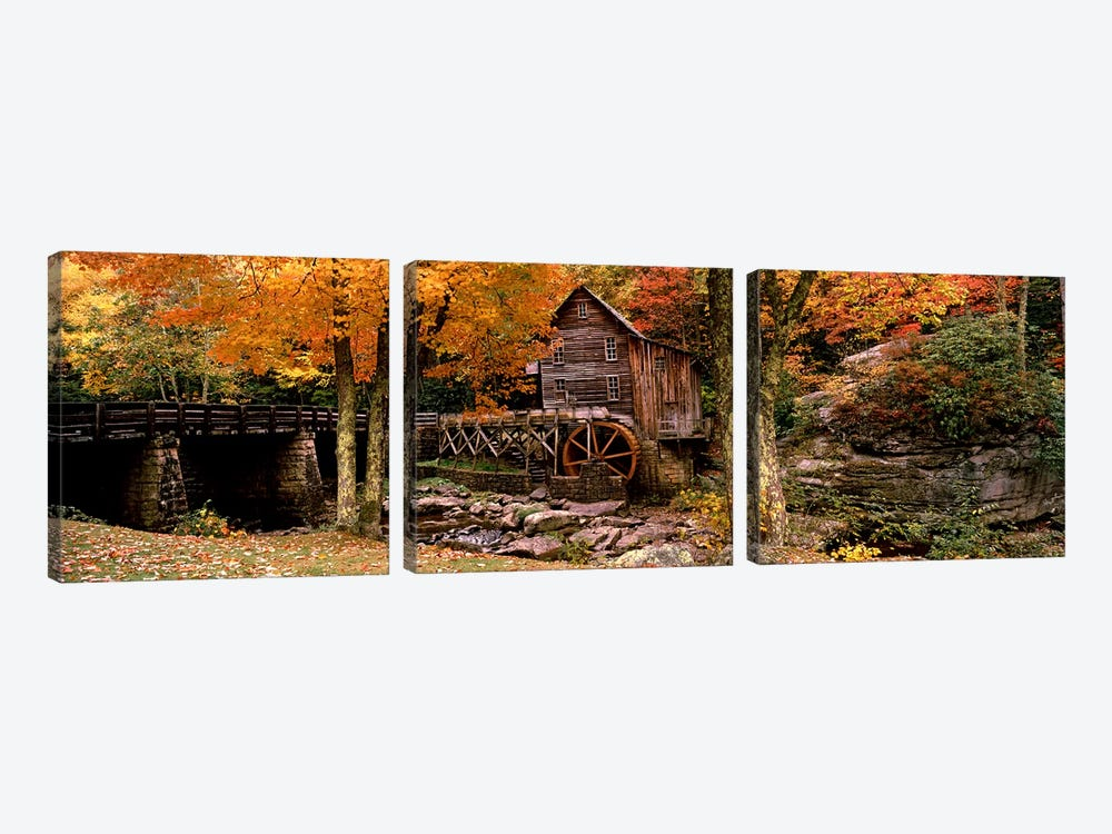 Glade Creek Grist Mill III, Babcock State Park, Fayette County, West Virginia, USA by Panoramic Images 3-piece Canvas Art