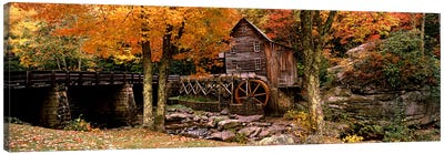 Glade Creek Grist Mill III, Babcock State Park, Fayette County, West Virginia, USA Canvas Art Print