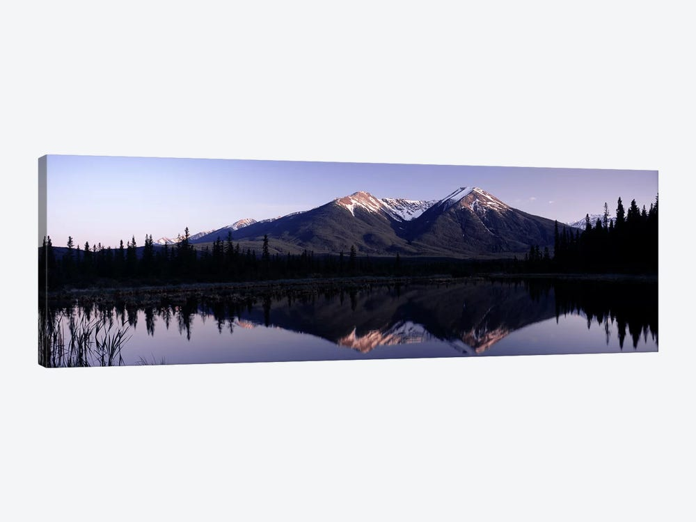 Mountain Landscape And Its Reflection, Banff, Alberta, Canada by Panoramic Images 1-piece Canvas Art