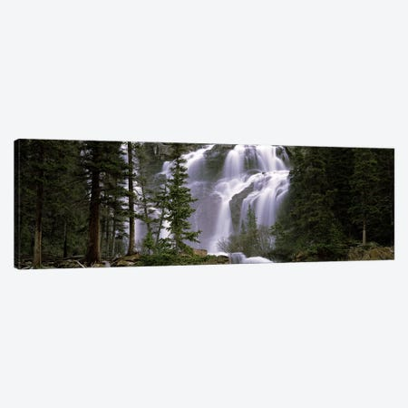 Waterfall in a forest, Banff, Alberta, Canada Canvas Print #PIM7453} by Panoramic Images Canvas Wall Art
