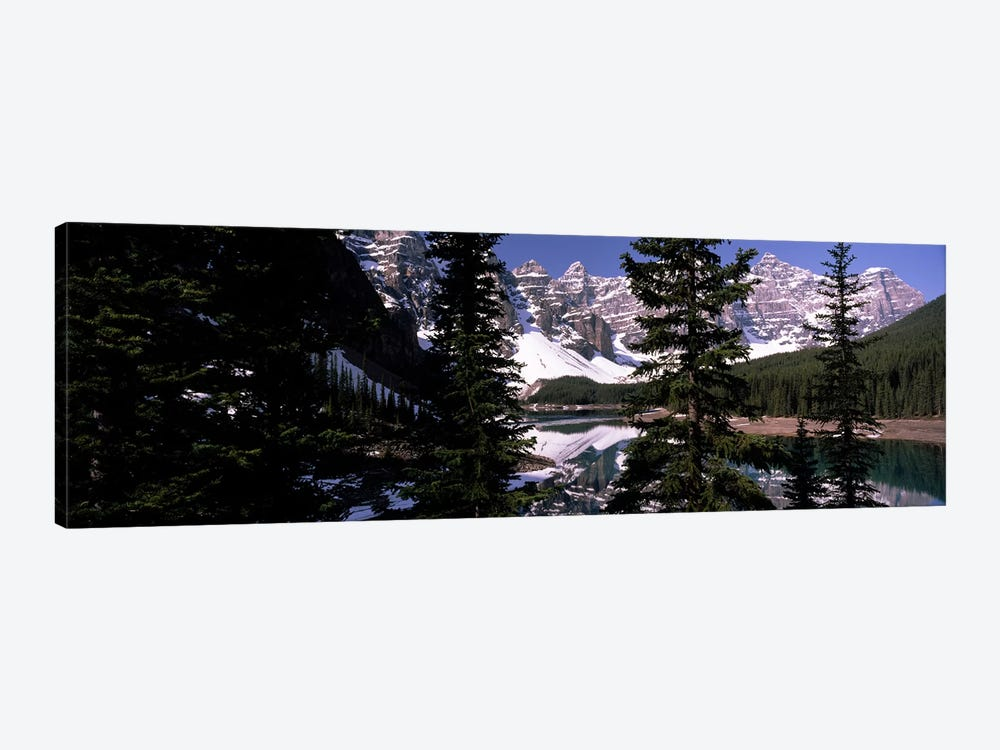 Lake in front of mountains, Banff, Alberta, Canada by Panoramic Images 1-piece Canvas Art