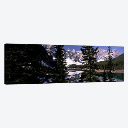 Lake in front of mountains, Banff, Alberta, Canada Canvas Print #PIM7454} by Panoramic Images Canvas Print