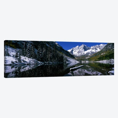 Maroon Lake & Maroon Bells, Maroon Bells-Snowmass Wilderness Area, White River National Forest, Colorado, USA Canvas Print #PIM7466} by Panoramic Images Canvas Wall Art