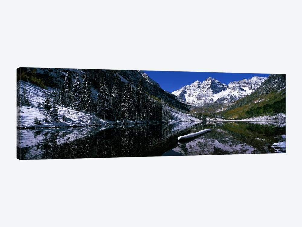 Maroon Lake & Maroon Bells, Maroon Bells-Snowmass Wilderness Area, White River National Forest, Colorado, USA by Panoramic Images 1-piece Art Print