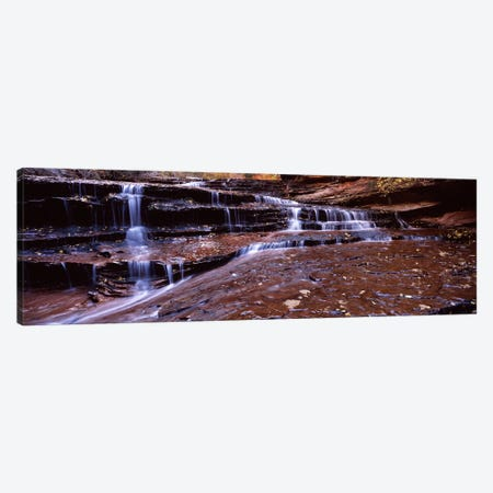 Stream flowing through rocks, North Creek, Zion National Park, Utah, USA Canvas Print #PIM7478} by Panoramic Images Canvas Artwork