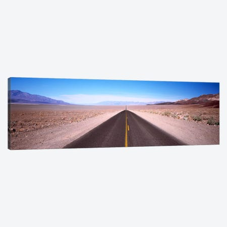 Arid Valley Landscape Along California State Route 190, Death Valley National Park 3-Piece Canvas #PIM749} by Panoramic Images Canvas Print