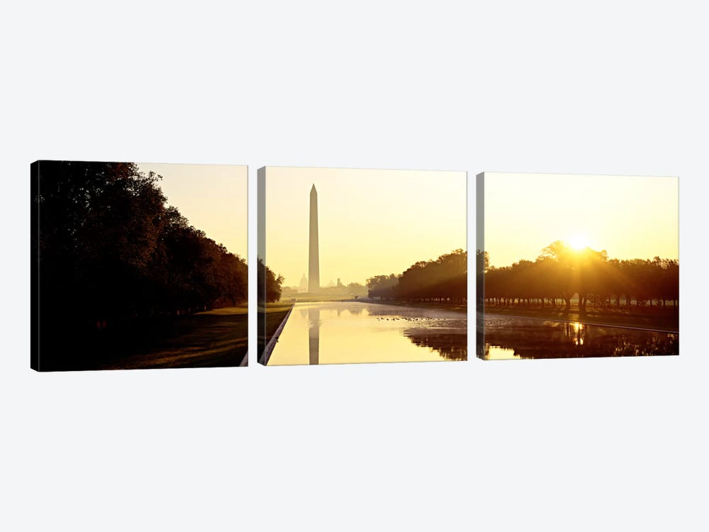 Washington MonumentWashington DC, District of Columbia, USA by Panoramic Images 3-piece Canvas Art Print