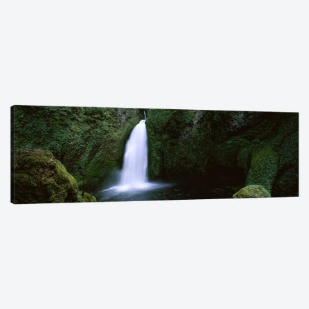 Waterfall in a forest, Columbia River Gorge, Oregon, USA #2 Canvas Print #PIM7507} by Panoramic Images Canvas Art Print