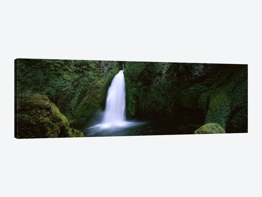 Waterfall in a forest, Columbia River Gorge, Oregon, USA #2 by Panoramic Images 1-piece Canvas Print