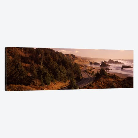 Coastal Landscape Along U.S. Route 101, Oregon, USA Canvas Print #PIM7515} by Panoramic Images Canvas Wall Art