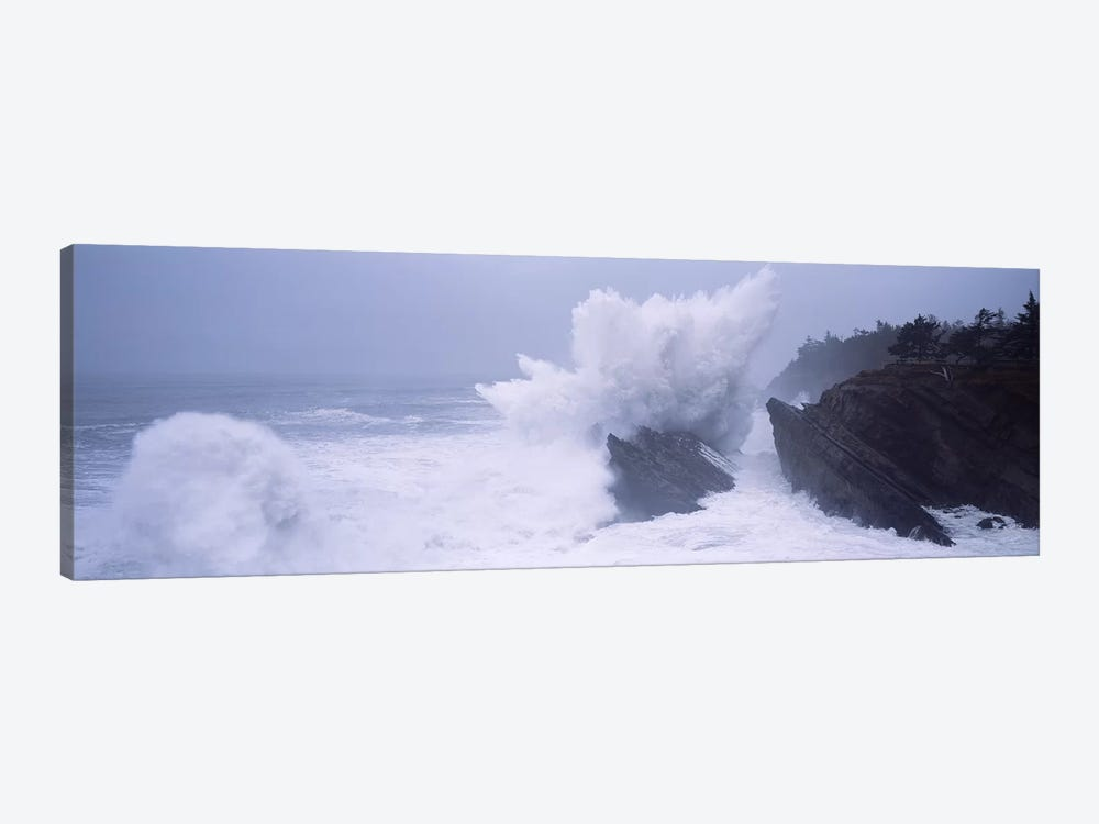 Crashing Waves Along The Coast, Shore Acres State Park, Coos County, Oregon, USA by Panoramic Images 1-piece Art Print