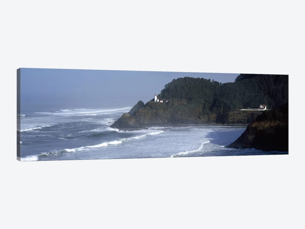Distant View Of Heceta Head Light, Heceta Head, Lane County, Oregon, USA by Panoramic Images 1-piece Canvas Art Print