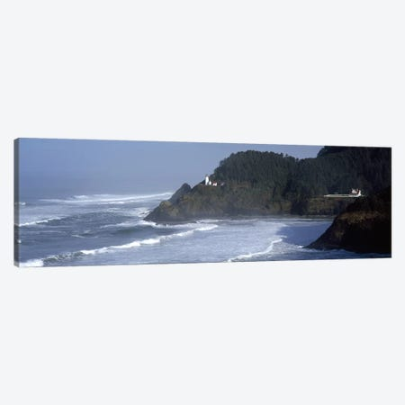 Distant View Of Heceta Head Light, Heceta Head, Lane County, Oregon, USA Canvas Print #PIM7518} by Panoramic Images Canvas Art Print