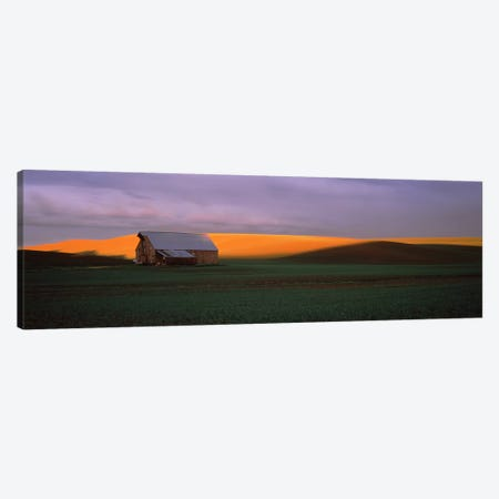 Barn in a field at sunset, Palouse, Whitman County, Washington State, USA Canvas Print #PIM7525} by Panoramic Images Canvas Print