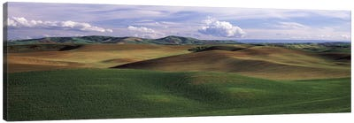 Clouds over a rolling landscape, Palouse, Whitman County, Washington State, USA Canvas Art Print