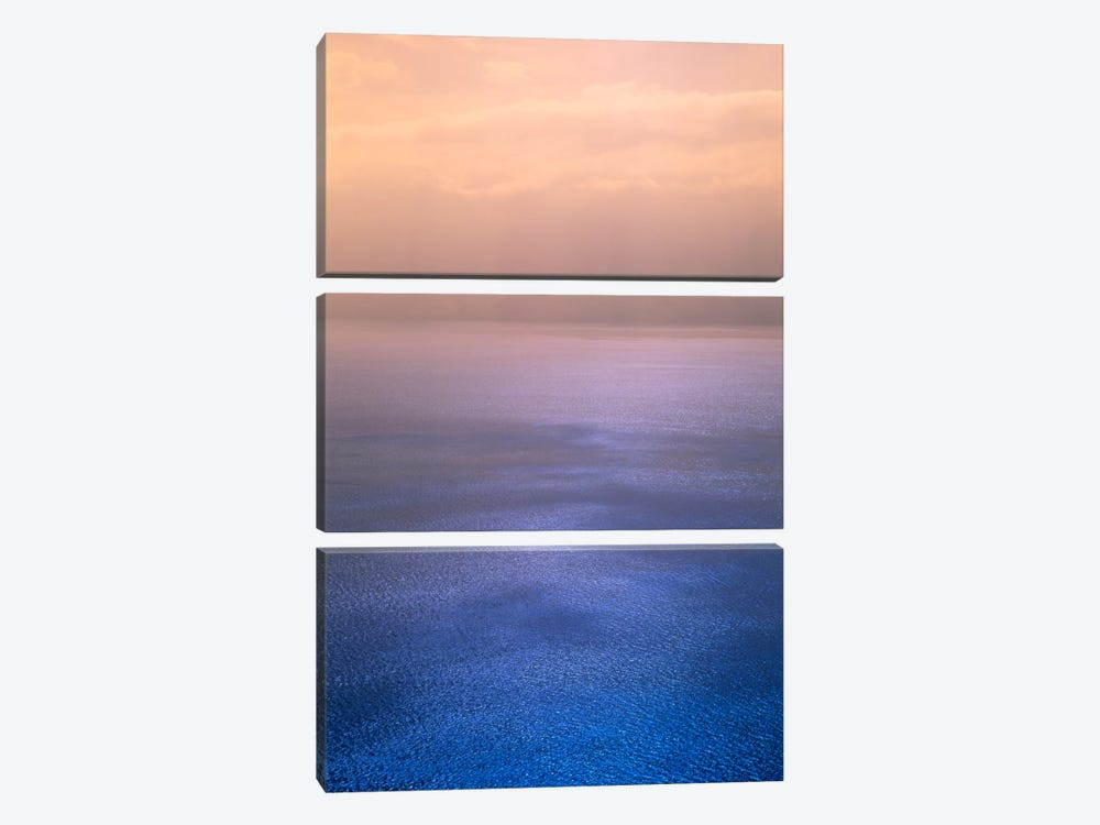 Rippled Chromatic Cloud Reflections, Lake Geneva, Switzerland by Panoramic Images 3-piece Canvas Wall Art