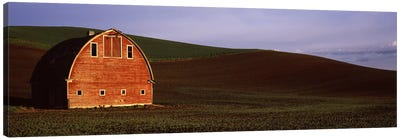 Barn in a field at sunset, Palouse, Whitman County, Washington State, USA #2 Canvas Art Print