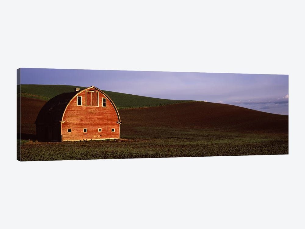Barn in a field at sunset, Palouse, Whitman County, Washington State, USA #2 by Panoramic Images 1-piece Art Print