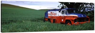 Antique gas truck on a landscape, Palouse, Whitman County, Washington State, USA Canvas Print #PIM7532
