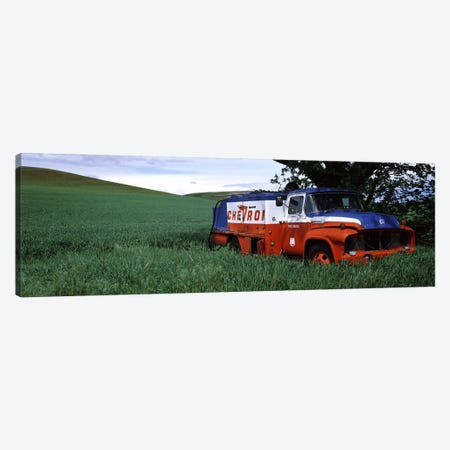 Antique gas truck on a landscape, Palouse, Whitman County, Washington State, USA Canvas Print #PIM7532} by Panoramic Images Canvas Print