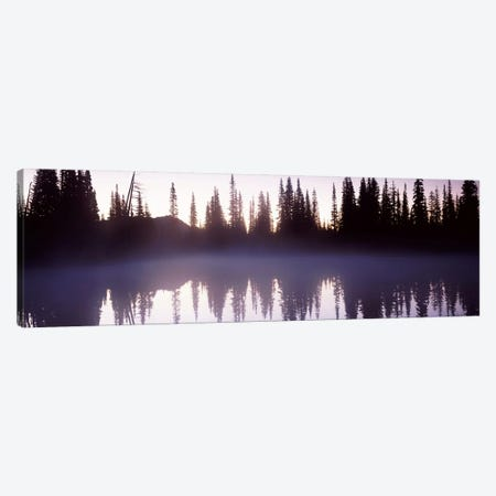 Reflection of trees in a lake, Mt Rainier, Pierce County, Washington State, USA Canvas Print #PIM7538} by Panoramic Images Art Print