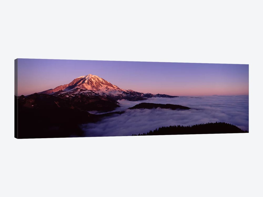 Sea of clouds with mountains in the background, Mt Rainier, Pierce County, Washington State, USA by Panoramic Images 1-piece Canvas Artwork