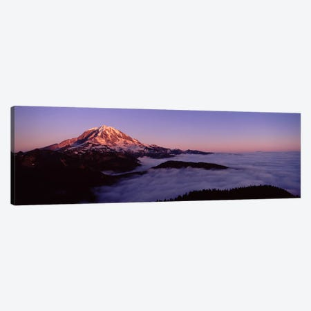 Sea of clouds with mountains in the background, Mt Rainier, Pierce County, Washington State, USA Canvas Print #PIM7540} by Panoramic Images Canvas Wall Art