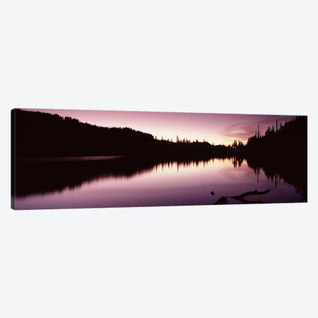 Reflection of trees in a lake, Mt Rainier, Pierce County, Washington State, USA #2 Canvas Print #PIM7541} by Panoramic Images Canvas Artwork
