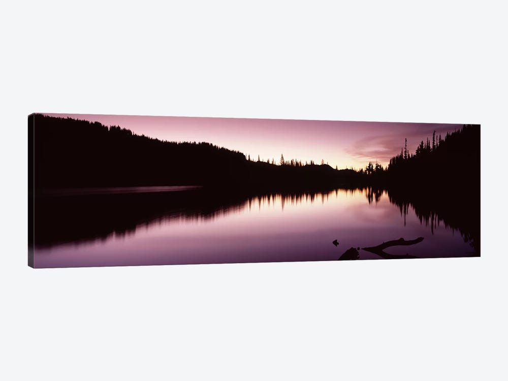 Reflection of trees in a lake, Mt Rainier, Pierce County, Washington State, USA #2 by Panoramic Images 1-piece Art Print
