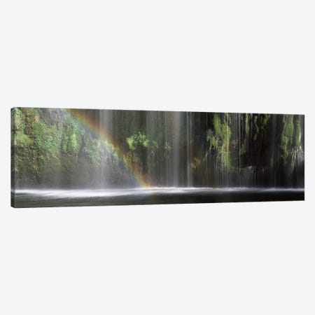 A Waterfall's Rainbow, Mossrbrae Falls, Dunsmuir, Siskiyou County, California, USA Canvas Print #PIM7546} by Panoramic Images Canvas Print