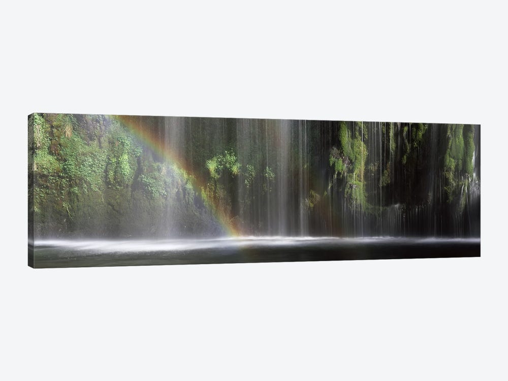 A Waterfall's Rainbow, Mossrbrae Falls, Dunsmuir, Siskiyou County, California, USA by Panoramic Images 1-piece Canvas Art