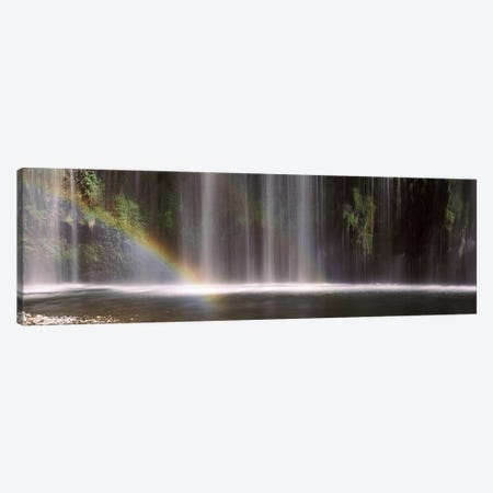 A Waterfall's Fading Rainbow, Mossrbrae Falls, Dunsmuir, Siskiyou County, California, USA Canvas Print #PIM7548} by Panoramic Images Canvas Wall Art