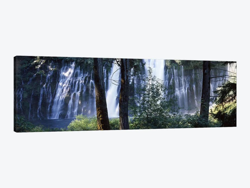 Burney Falls As Seen Through A Forest Landscape, McArthur-Burney Falls Memorial State Park, California, USA by Panoramic Images 1-piece Canvas Print
