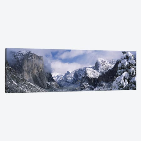 Cloudy Winter Landscape, Yosemite Valley, Yosemite National Park, California, USA Canvas Print #PIM7553} by Panoramic Images Art Print