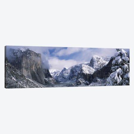 Cloudy Winter Landscape, Yosemite Valley, Yosemite National Park, California, USA Canvas Print #PIM7553} by Panoramic Images Art Print