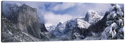 Cloudy Winter Landscape, Yosemite Valley, Yosemite National Park, California, USA Canvas Art Print