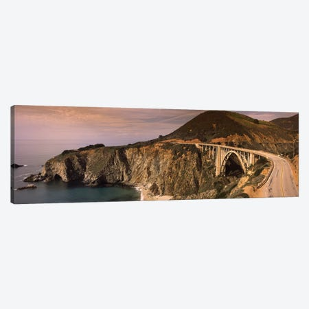 Coastal Landscape Featuring Bixby Creek Bridge, Big Sur, Monterey County, California, USA Canvas Print #PIM7560} by Panoramic Images Canvas Art