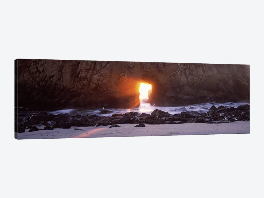 Magical Keyhole Sunset, Keyhole Rock, Pfeiffer Beach, Big Sur, California, USA by Panoramic Images 1-piece Canvas Art Print