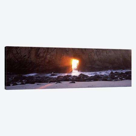 Magical Keyhole Sunset, Keyhole Rock, Pfeiffer Beach, Big Sur, California, USA Canvas Print #PIM7565} by Panoramic Images Canvas Print
