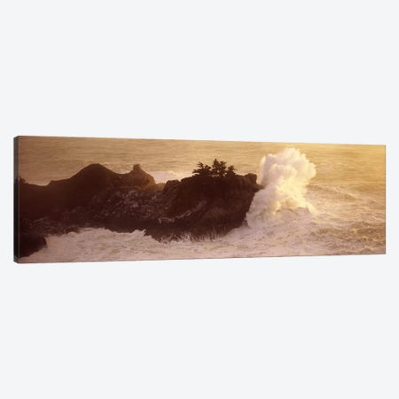 Crashing Waves At High Tide, McWay Cove, Julia Pfeiffer Burns State Park, Monterey County, California, USA Canvas Print #PIM7571} by Panoramic Images Art Print