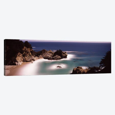 High-Angle View Of McWay Cove & McWay Falls, Julia Pfeiffer Burns State Park, Monterey County, California, USA Canvas Print #PIM7572} by Panoramic Images Art Print