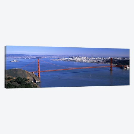 High angle view of a suspension bridge, Golden Gate Bridge, San Francisco, California, USA #4 Canvas Print #PIM7576} by Panoramic Images Canvas Art