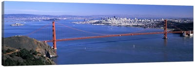 High angle view of a suspension bridge, Golden Gate Bridge, San Francisco, California, USA #4 Canvas Art Print
